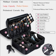 Women Cosmetic Bag Large Professional Case Nail Pattern Semi-permanent Tool Box Storage Makeup
