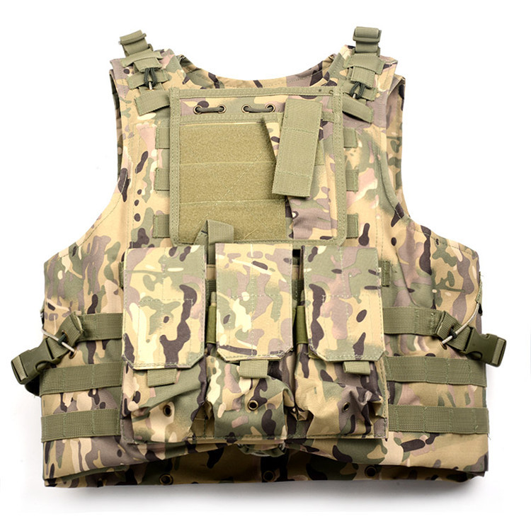 1PC Molle System Camouflage Military Tactical Combat Vest 800D Oxford US Army Assualt Vests Camo Outdoor Paintball Airsoft Vest us army khaki camouflage tactical vest 600d nylon brown molle military cs paintball vest combat vest