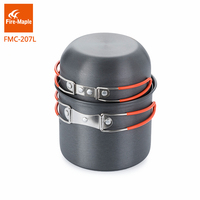 Fire Maple Backpacking Cookware Set Aluminum Alloy Pot For 1 2 Persons Light Weight 195g