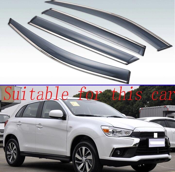 For Mitsubishi ASX 2010-2018 Plastic Exterior Visor Vent Shades Window Sun Rain Guard Deflector 4pcs