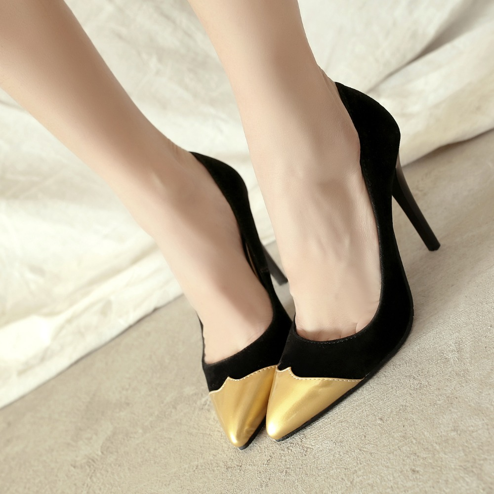 2017 Big and Small Size 31 32 45 46 47  Fashion Sexy Pointed Toe Women Pumps Platform High Heels Ladies Wedding  Party Shoes 502