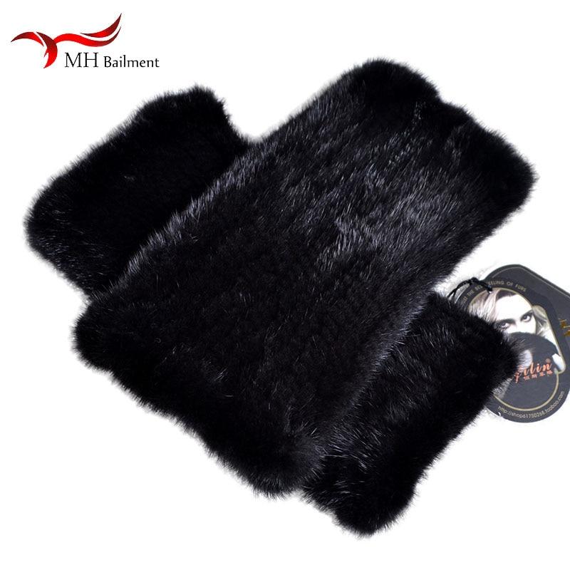 Autumn Winter New Imported Mink Fur Leggings Socks Thick Warm Fur Elastic Leggings Armpit Arm Warmers Female Sleeve Sleeves W#20