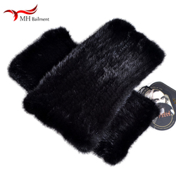 Autumn winter new imported mink fur leggings socks thick warm fur elastic leggings armpit arm warmers female sleeve sleeves W#20