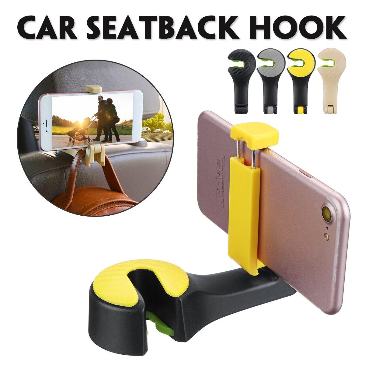 1 Pcs Auto Zurück Sitz Stand Kopfstütze Kleiderbügel Haken Clips Telefon Halter 2 In 1 Automobil Innen Zubehör Haken