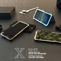 Nouveauté Inoxydable 304 De Silicium En Plastique Dur Flip Cas Pour iPhone 8/8 Plus Béquille Couvercle En Métal Léger Sport En Plein Air Shell