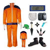 Naruto Naruto Uzumaki Cosplay Costume Outfit Kids Children Version Suit