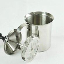 400 ml Edelstahl Milchaufschäumer Cappuccino Kaffee Milchaufschäumer Doppel Schaum Pumpe