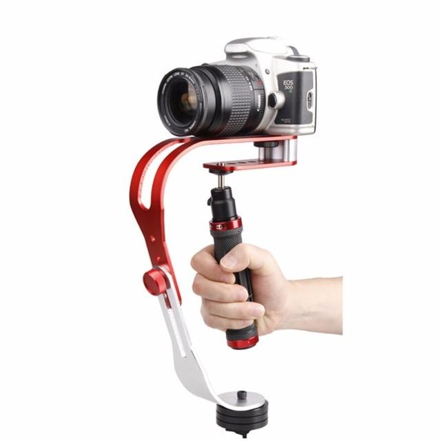 Универсальный Ручной Видео Стабилизатор Портативный Наружный Путешествия Камеры Steadicam Стабилизатор Для Canon Для Sony Красный