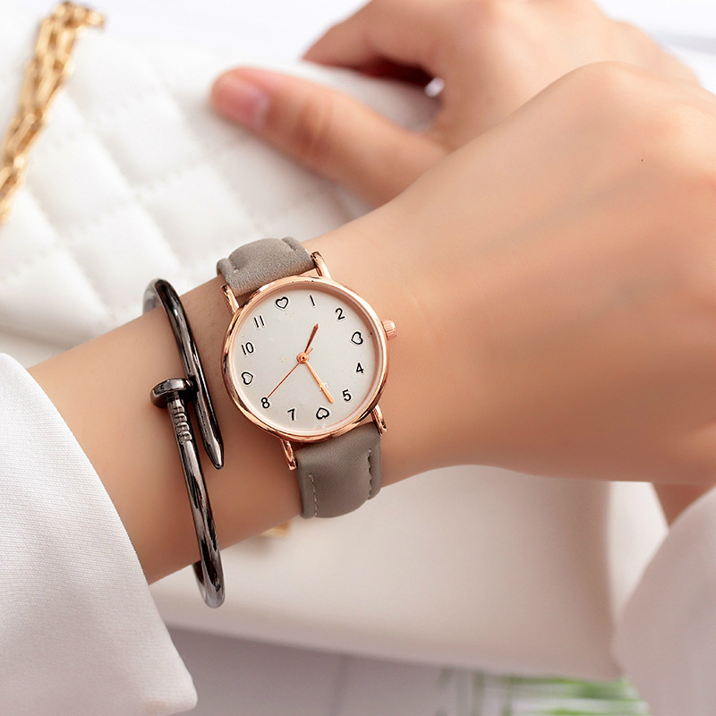 JBRL Top Brand 2019 Simple Wrist Watch Women PU Watch Ladies Wristwatch For Female Clock Heart Hours Gifts For Women Wholesale