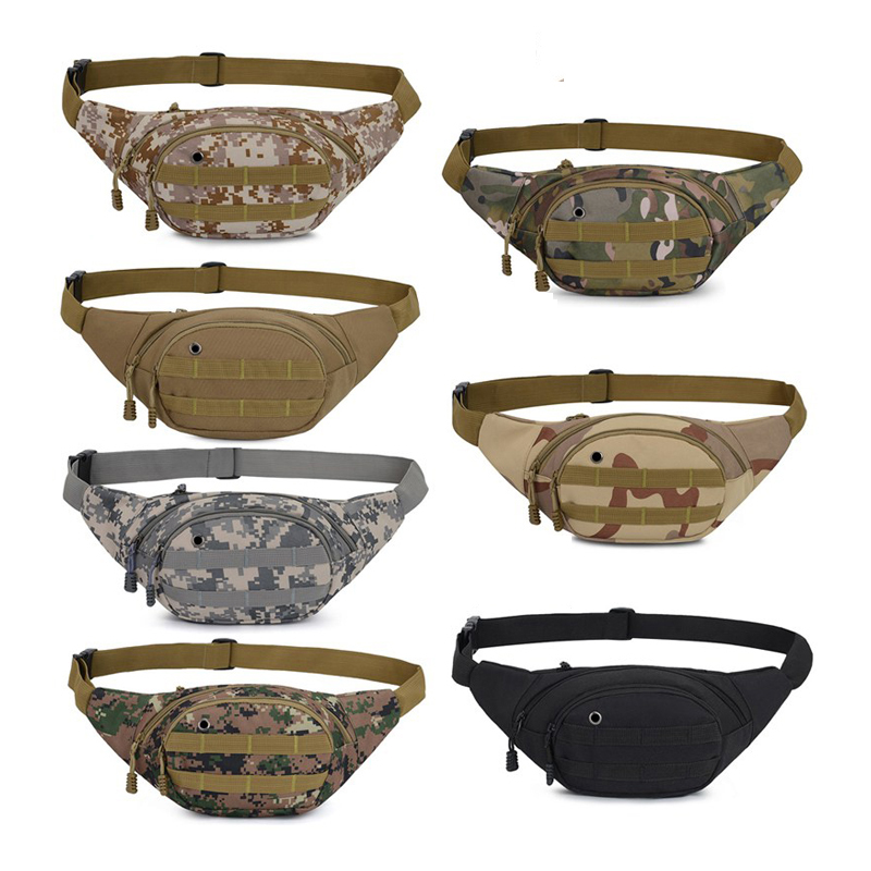 Balight Tactical Cycling Waist Fanny Pack Belt Bag Hip Purse Mens Women Military Hiking Running Traveling Daily Life Sports Bag