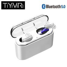 Bluetooth Earphone 5.0 TWS Invisible Mini Wireless Earphone Bass Earbuds Headset with 1200 mAh charging Box power Bank 2018 new mini invisible wireless bluetooth earphone mini bluetooth headset wireless for phone with 700 mah charging box portable
