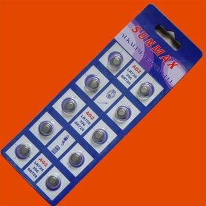 10PCS AG2 LR726 396 SR726SW alkaline battery SUNMAX