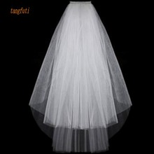 Simple Short Tulle Wedding Veils Cheap 2016 White Ivory Brid