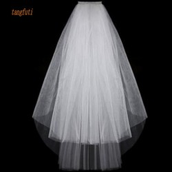 Simple Short Tulle Wedding Veils Cheap 2016 White Ivory Bridal Veil for Bride for Mariage Wedding Accessories