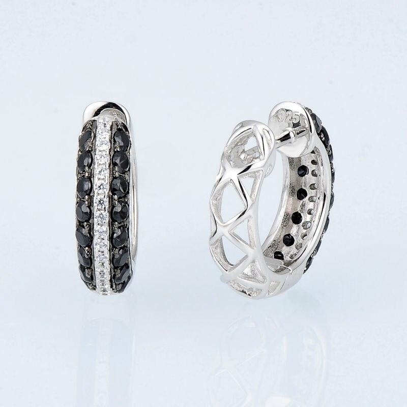 E306865BSNZSK925-SV3-Silver Earrings
