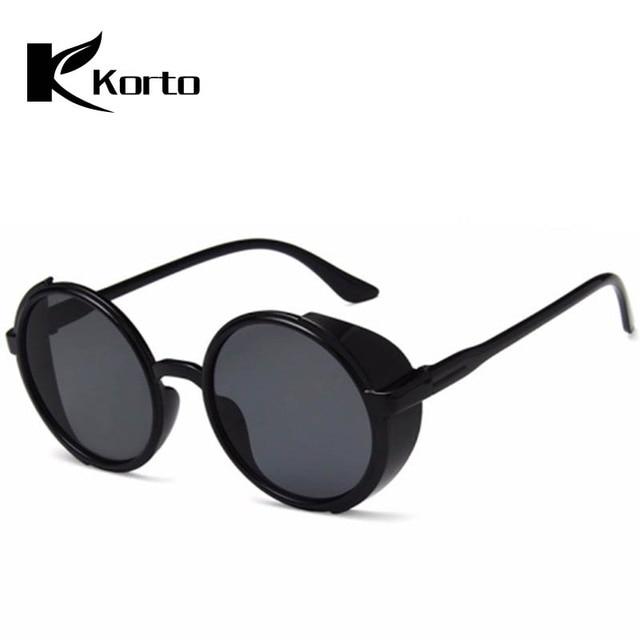 5db54a357 Summer Photochromic Women Round Sunglasses Colored Steampunk Gothic  Eyeglasses Men Fashion Travel Sun Glasses Man Punk Glasses