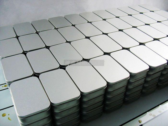 DHL 100pcs Plain silver tin box 9 4cm x 5 9cm x 2 1cm rectangle tea
