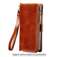 Flip Phone Case For Samsung Galaxy S6 S7 edge S8 S9 Plus case zipper wallet bag For Note 4 8 9 case a5 a7 a8 j5 j7 pro 2017 case