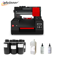 Jetvinner Automatic A3 Size UV Flatbed Printer 12 Color Inkjet Printers with Double Print Head with Varnish Effect with UV Ink