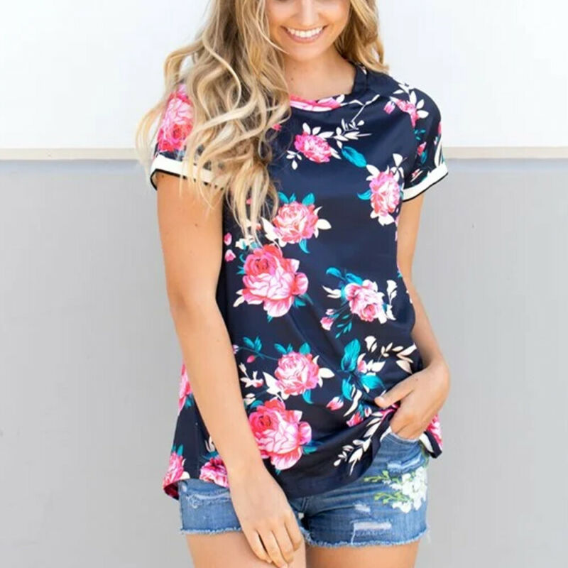 Pregnant Maternity Clothes Women Nursing Top Breastfeeding T-Shirt Floral Blouse