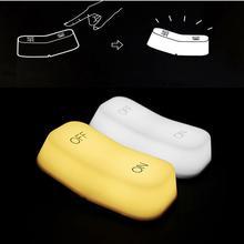 Lámpara de Interruptor táctil con encendido y apagado, LED de carga USB, brillo ajustable, luz nocturna, Sensor de gravedad, lámpara de mesita de noche