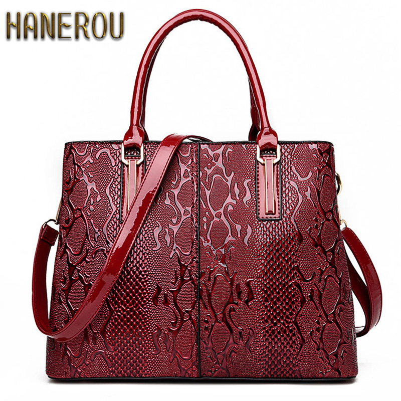 New Fashion PU Leather Women Bag Ladies Luxury Snake Shoulder Bags Designer Hand