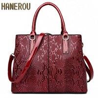 New Fashion PU Leather Women Bag Ladies Luxury Snake Shoulder Bags Designer Handbags High Quality 2017