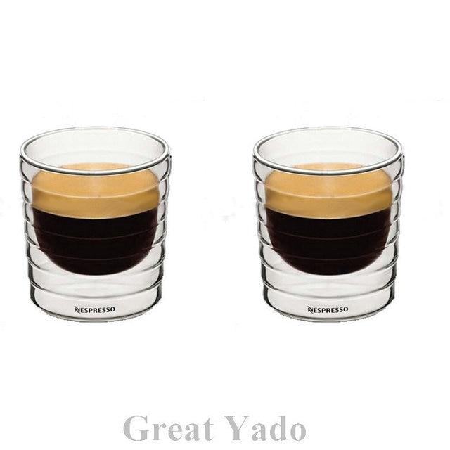 ensemble de 2 pcs double paroi nestl nespresso verre tasses caf tasses 150 ml expresso citiz. Black Bedroom Furniture Sets. Home Design Ideas