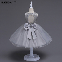 Fashion 2017 Baby Cute Clothes Girls Evening Dress Children Wedding Lace Costume Flower Girl Princess Tutu