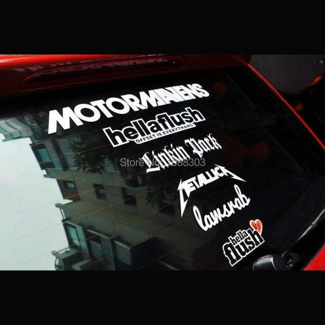 1 set hllalfush metallica car window sticker decals for car whole body front windshield