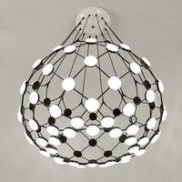 Modern Black White Chess Piece Pendant Light Globe Earth Suspension Pendant Lamp New for Living Room Bedroom Pendant Lights B043
