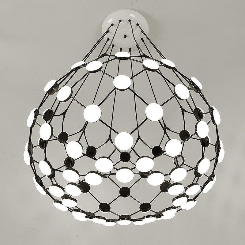 Moderne noir blanc pièce d'échecs pendentif lumière Globe terre Suspension Suspension lampe nouveau pour salon chambre pendentif lumières B043