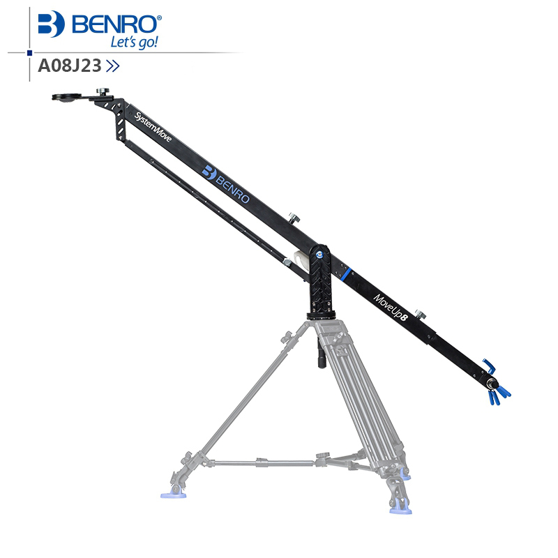 Benro MoveUp8 Travel Video Jib crane Professional Auminium Portable Pro DSLR Video Camera Crane Jib Arm Max Load To 8kg A08J23 professional dv camera crane jib 3m 6m 19 ft square for video camera filming with 2 axis motorized head