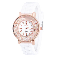 Women Watches Men relogio feminino reloj mujer Noble Delicate Lady Silicone Rhinestone Rhinestone Quartz Bracelet Watch Watch5*