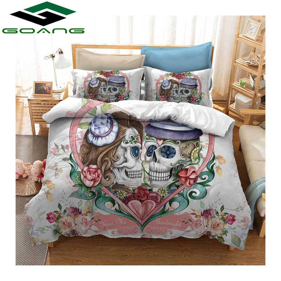 3d Bedding Set Europe Style ghost couple Duvet Cover Pillow Cases Twin Full Queen King Super King Size Kids Bedclothes Bed
