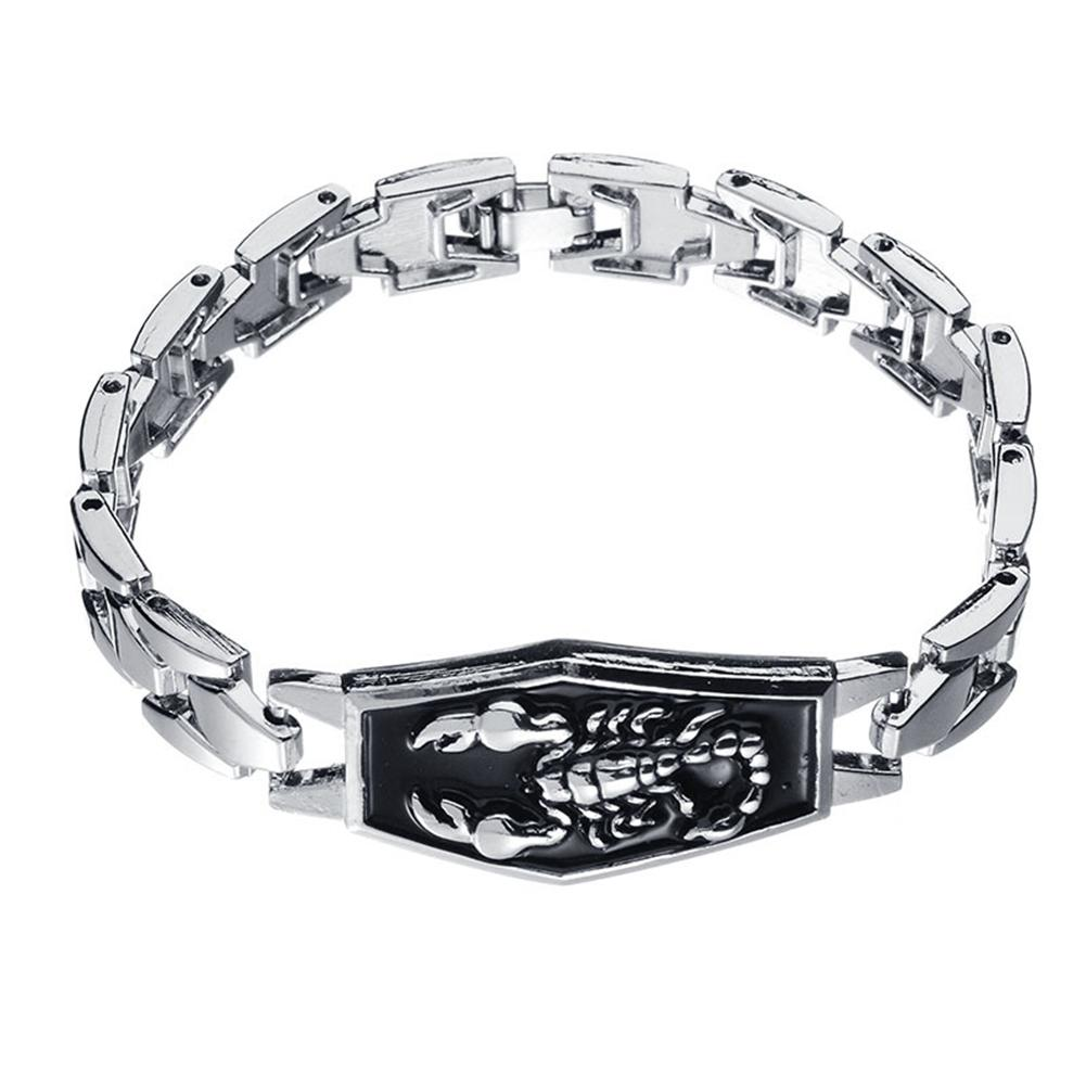 Men Scorpion Charm Bracelet Punk Alloy Bangle Wristband Jewelry Birthday Gift Stainless Steel Man Bracelets Bangles New Arrival