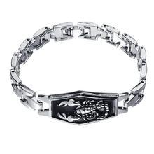 Men Scorpion Charm Bracelet Punk Alloy Bangle Wristband Jewelry Birthday Gift St