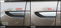 ABS ! Side Body Air Flow Vent Fender Cover Trim / Accessories For Land Rover Discovery Sport 2015 2016 2017