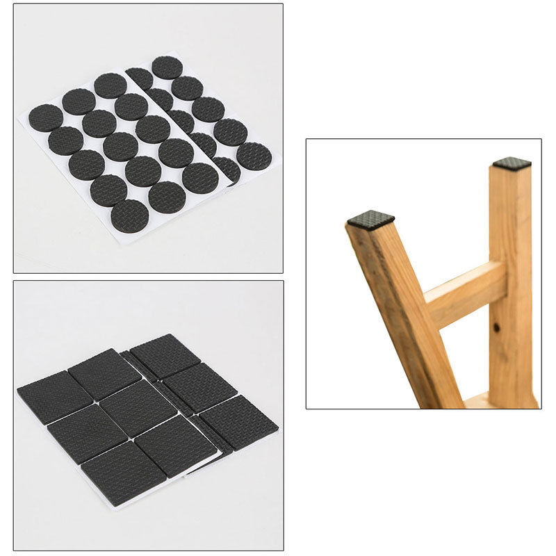 12 pcs Square Multifunction Black Self Adhesive Furniture Leg Table Sofa Feet Floor Non-slip Mat Sticky Pad Protector 1Set 2018 new arrival 10mm 12 pcs circles round code stickers self adhesive sticky labels black