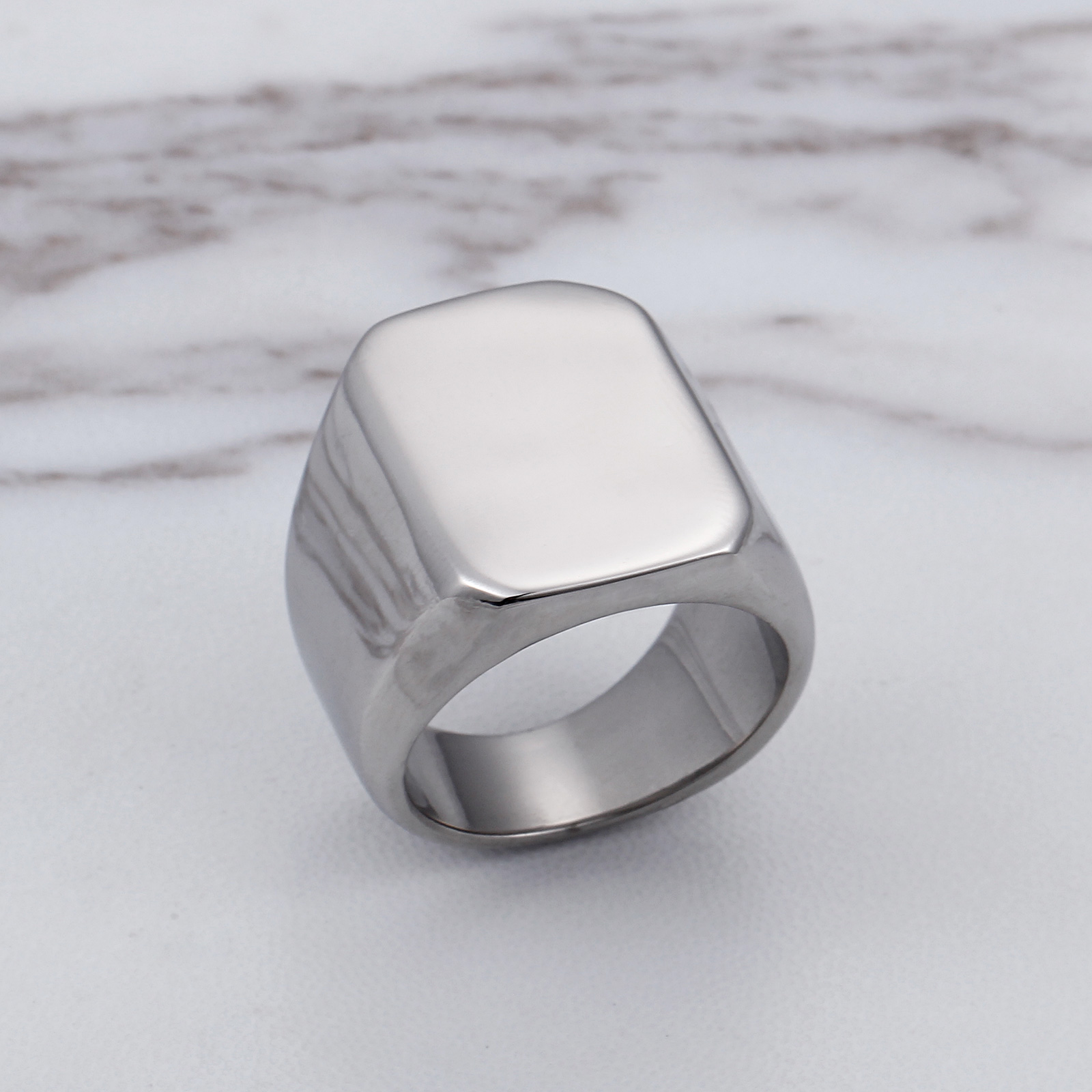 Fashion Charms Korean Elegant Rings Men 316L Titanium Stainless Steel Chic Silvery Color Men Rings Fashion Jewelry Accessores