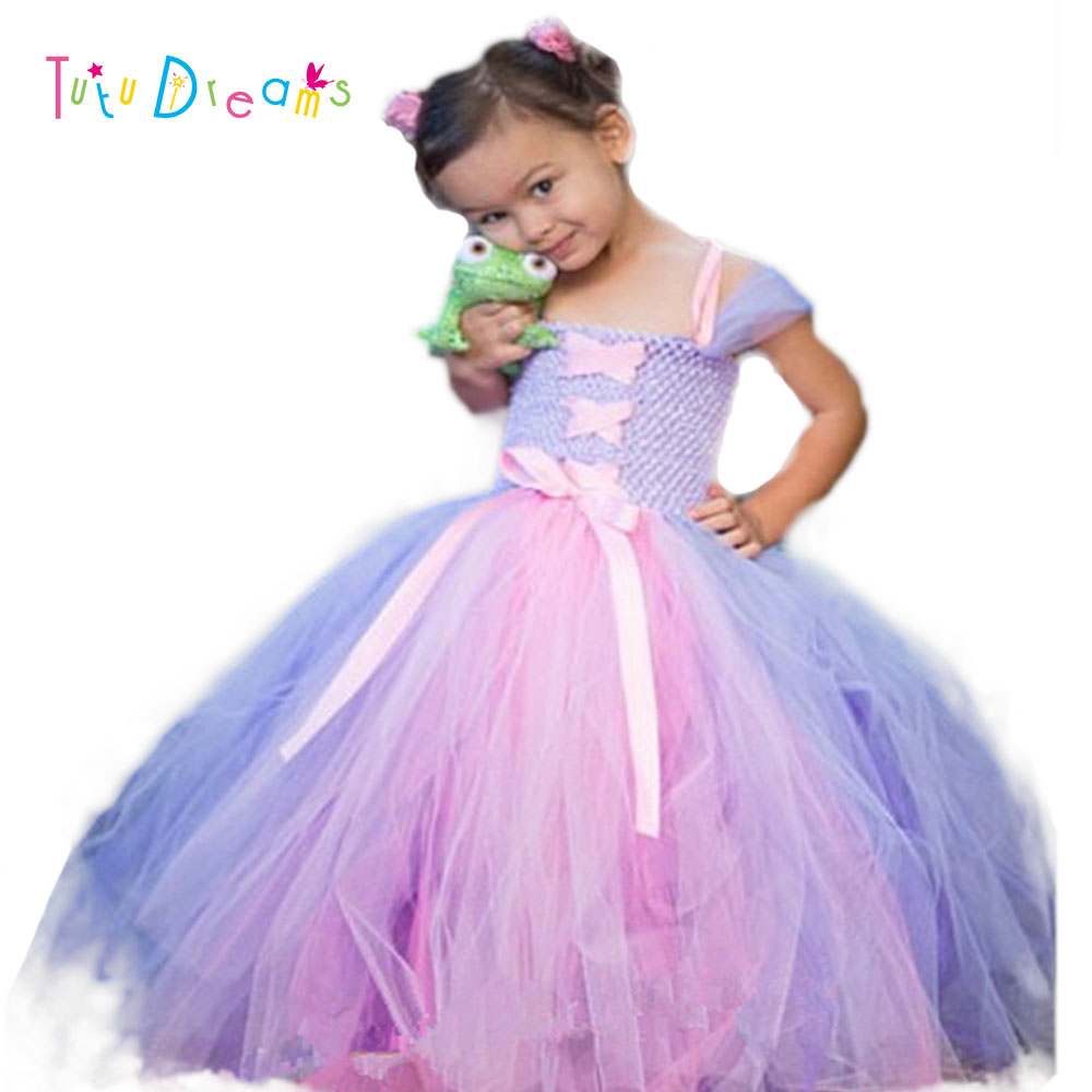 Princess Tutu Girls Dress Fancy Dresses For Kids Clothes Birthday ...