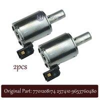 2pcs Original Pressure regulator and lock up solenoid FOR Renault Citroen Peugeot AL4/DPO 2574.10 2574.16 7700870238 7701208174