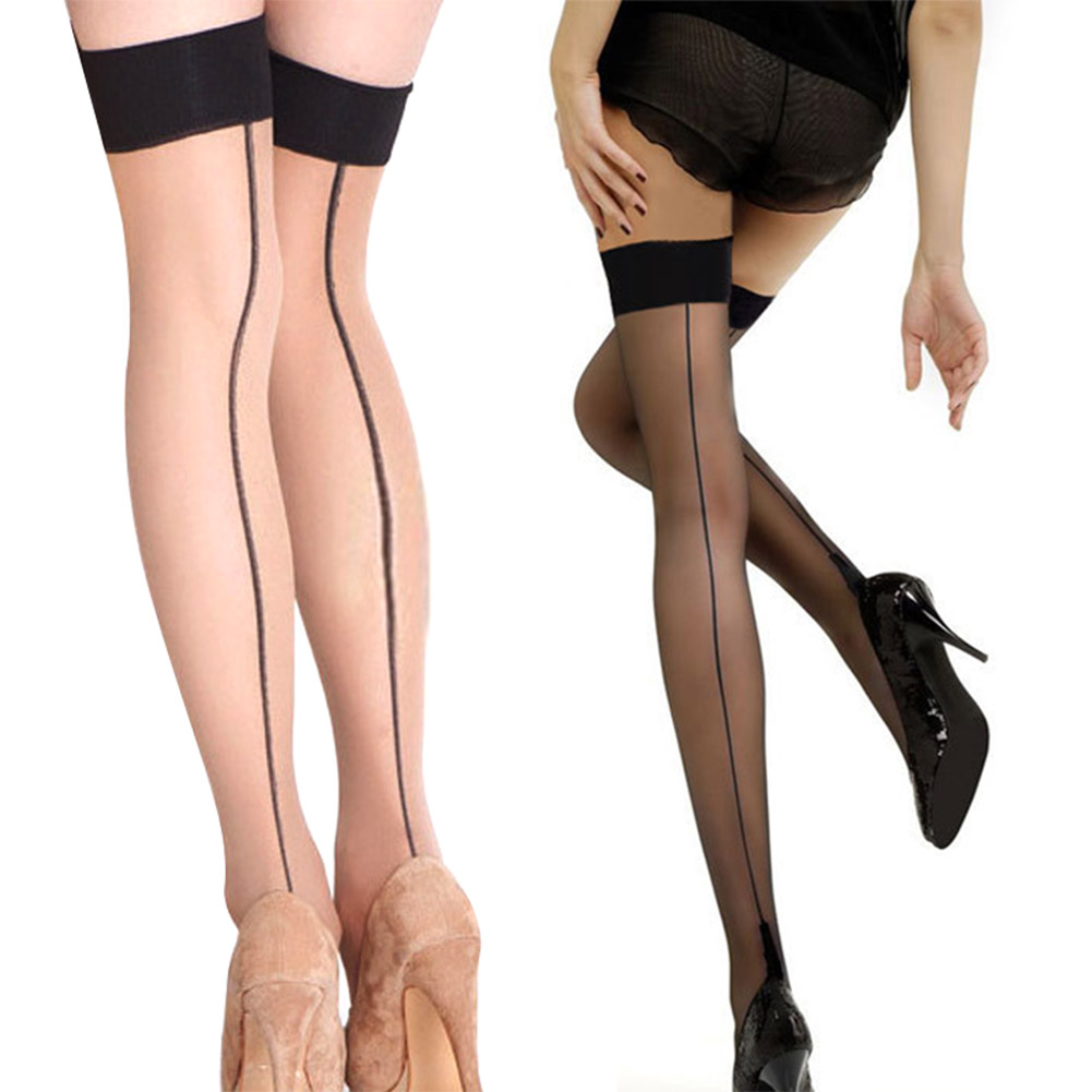 2019 Fashion Sexy Stockings Women Thigh High Stocking Transparent Over The Knee Socks  Hosiery Stay Up Stockings MSK66