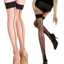 2019 moda sexy meias mulheres coxa alta meia transparente sobre o joelho meias meias meias meias ficar até msk66