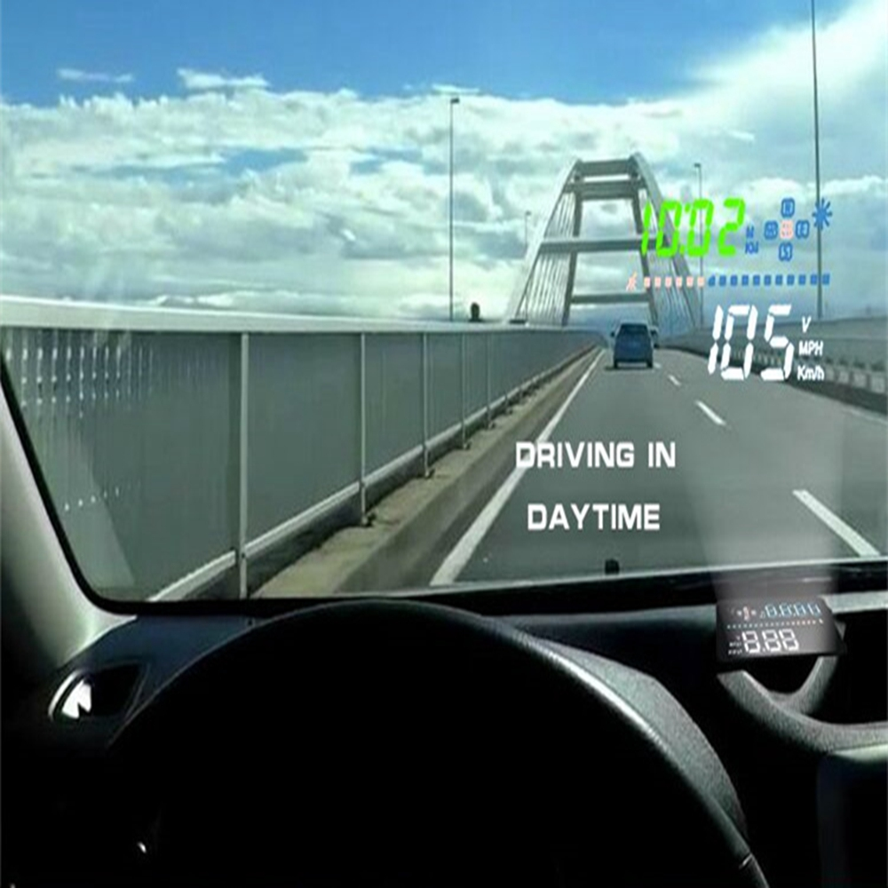 Fit for All Car Speed Projector on the Windshield A3 OBD2 Head Up Display Auto HUD Digital Car Speedometer Auto Accessories