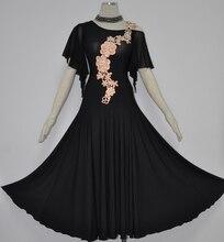 Standard Dance Dresses Women Black Ballroom Waltz Tango Dancing Wear High Quality Adult's Ballroom Competition Dress