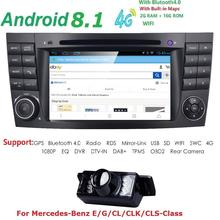 2Din Android 8.1 GPS Radio CAR DVD Player For Mercedes W211 W219 W463 CLS350 CLS500 CLS55 E200 E220 E240 E270 E280 Stereo RAM 2G