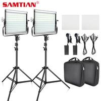 SAMTIAN L4500 комплект видео Light & штатив затемнения Би Цвет фотографического Светодиодная панель легкий портативный светодиодный свет для фотог