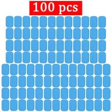 100Pcs ABSแผ่นเจลกล้ามเนื้อไฟฟ้าStimulator Bodyอุปกรณ์การฝึกอบรมแผ่นเจลสำหรับEMSท้องABS TRAINERเจลpatch