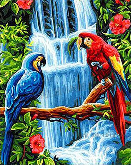 5D DIY Full Drill Diamond Painting Forest Bird Cross Stitch Embroidery Kits